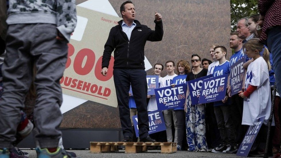 David Cameron at a Remain campaign event in his Witney constituency