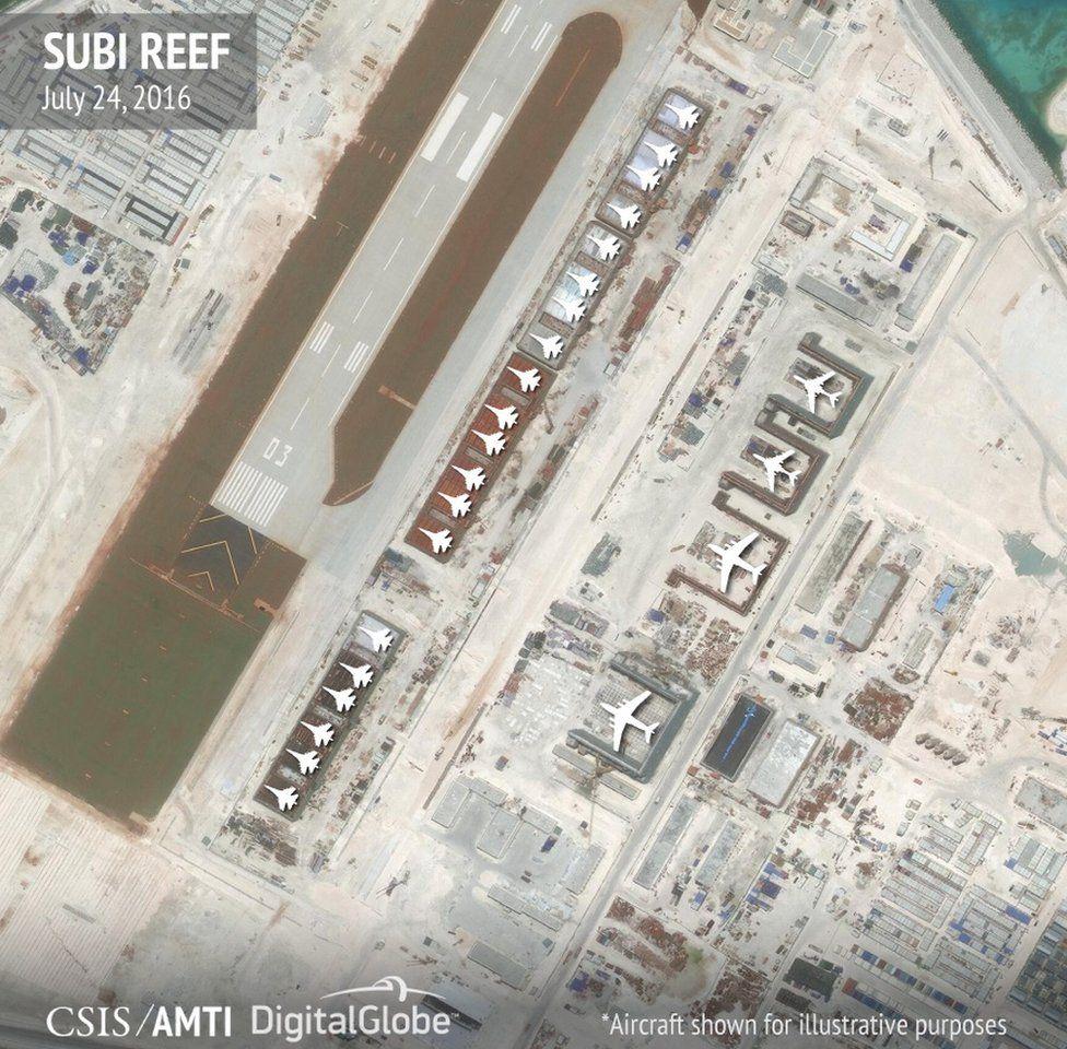 Hangars on Subi Reef