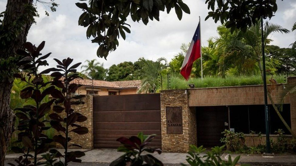 External view of the Embassy of Chile in Caracas, Venezuela, 05 November 2017.
