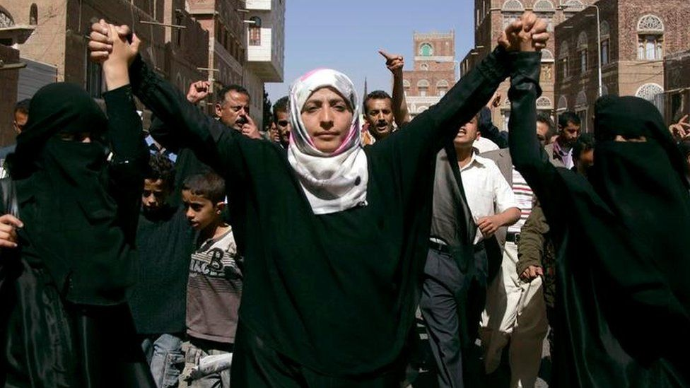 An anti-government protest in Sanaa February 10, 2011.