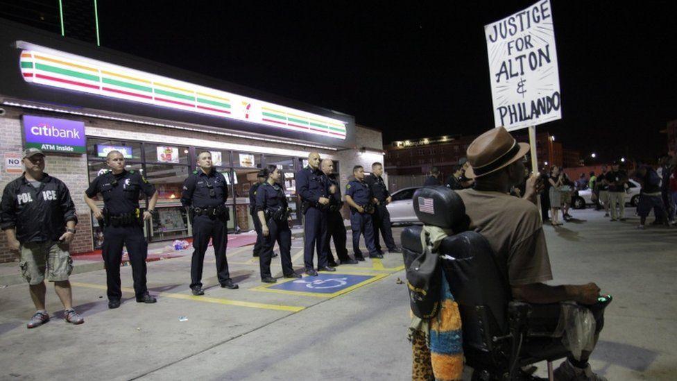 Protest in Dallas, 7 July