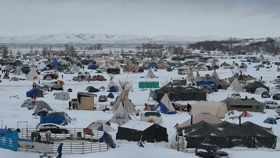 the protest camp