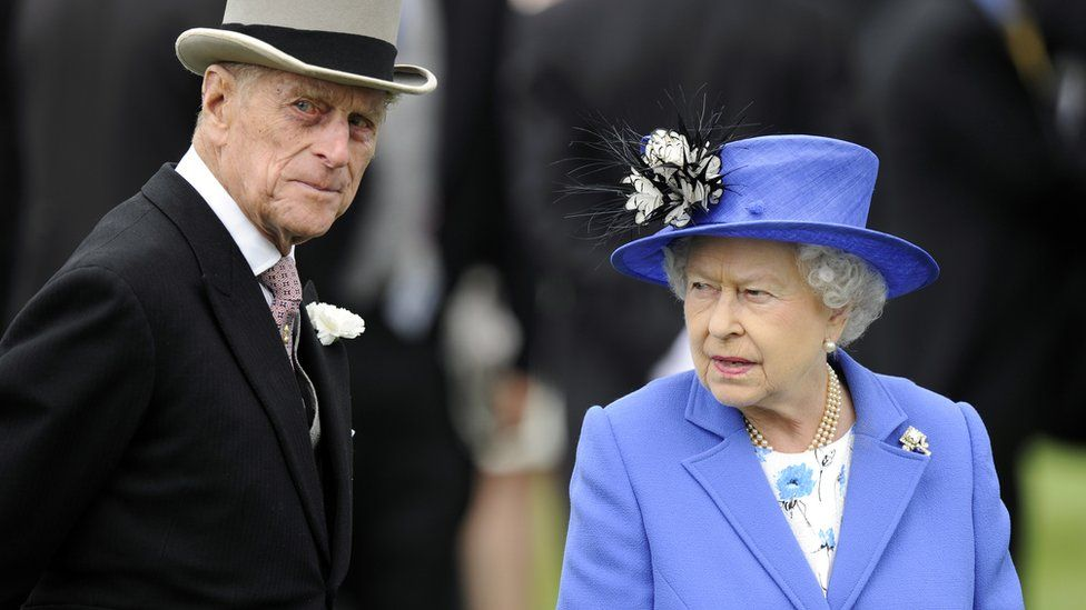 The Queen and Prince Philip at the Epsom Derby in 2012