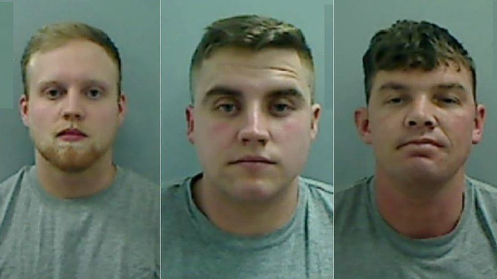 (Left to right) Kieran Ibitson, Dominic Pickering, Mark Pickering