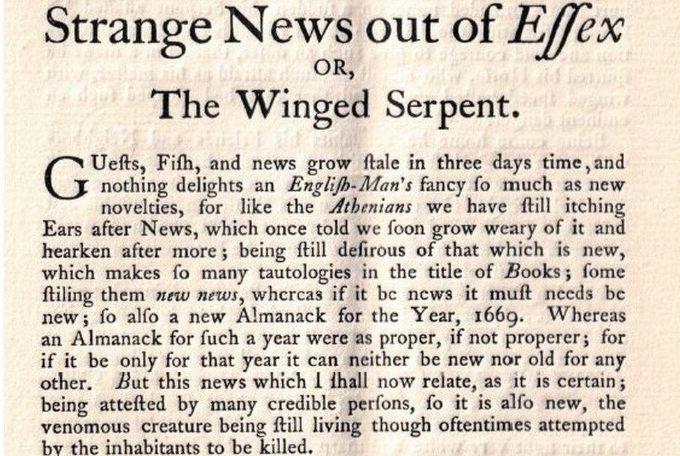 Essex Serpent pamphlet