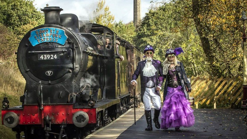 Steampunk festival held in Bronte's Haworth