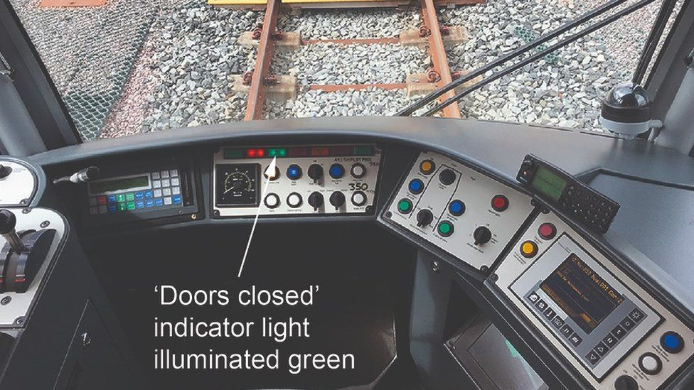 Safety system in driver's cab of Metrolink