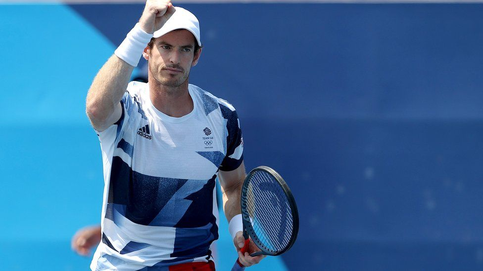 Andy Murray at the Tokyo Olympics