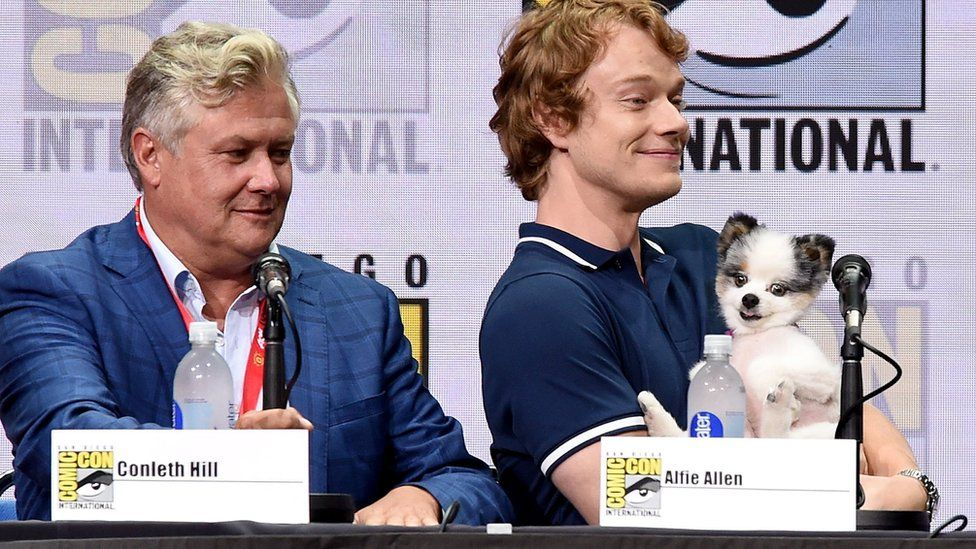 Conleth Hill and Alfie Allen