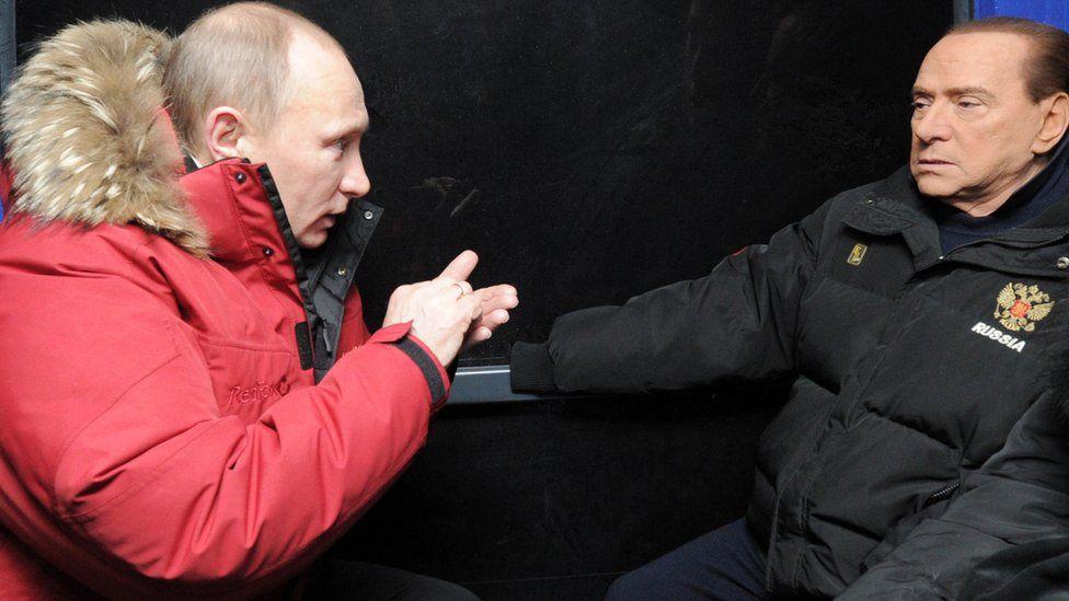 Vladimir Putin and then Italian PM Silvio Berlusconi in 2012
