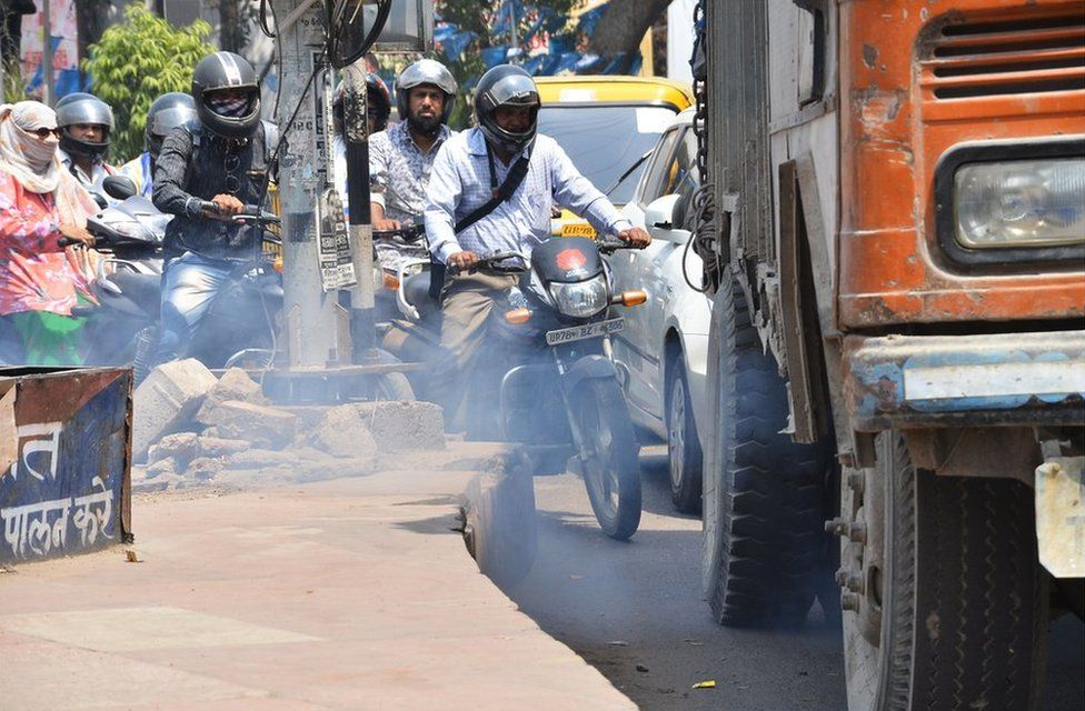 Vehicular pollution in Kanpur
