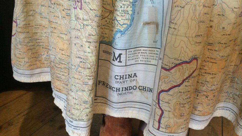 Silk map dress