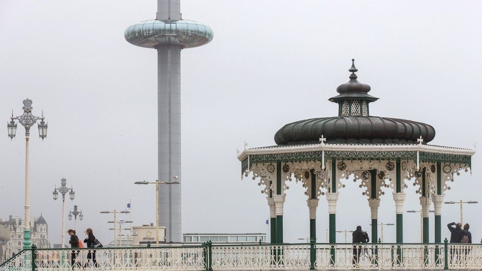 View of i360 tower in Brighton