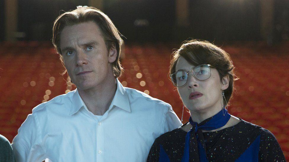 Michael Fassbender and Kate Winslet in Steve Jobs
