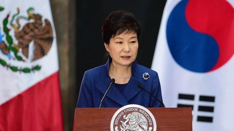 South Korean President Park Geun-hye in Mexico (04 April 2016)