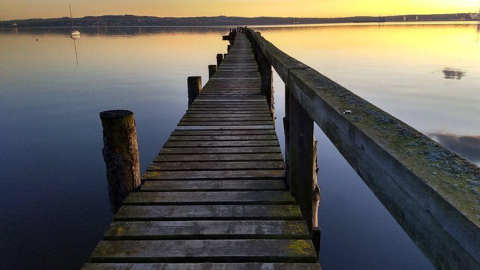 pier on a calm morning