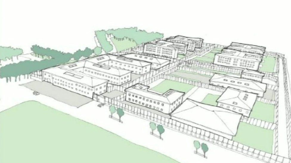 Artist impression of buildings