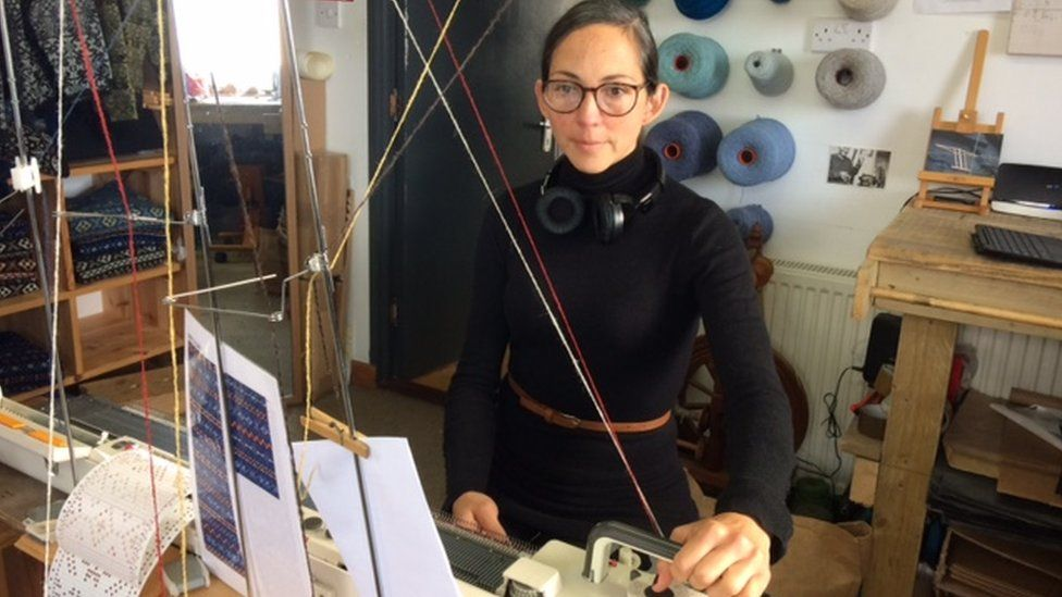 Mati Ventrillon uses traditional Fair Isle knitting patterns but reaches new markets