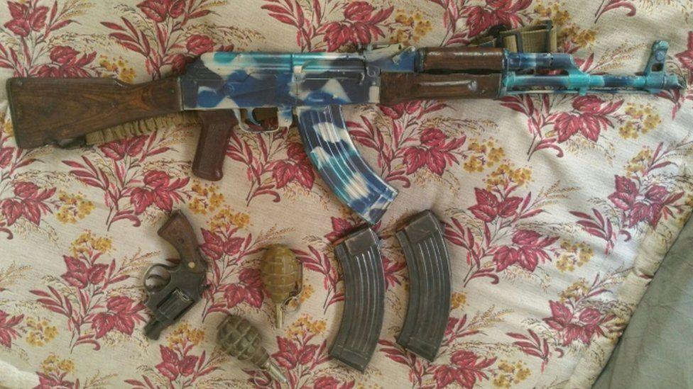 Naweed Hussain's gun