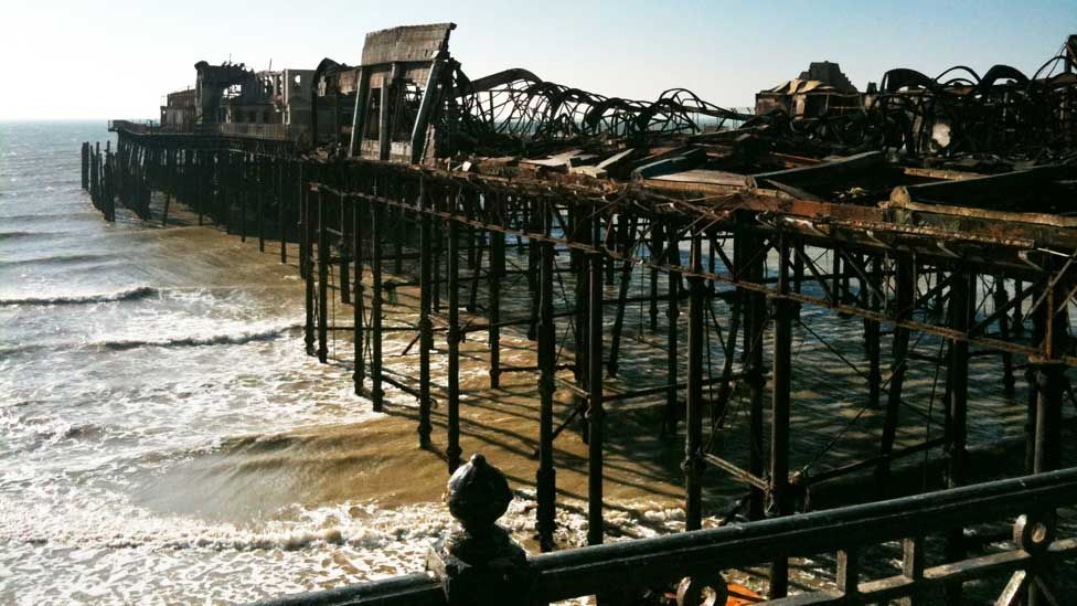 Hastings Pier before its redevelopment