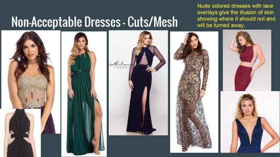 More non acceptable dresses.