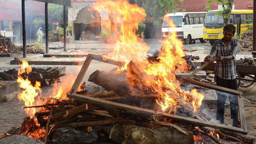 A cremation ground in Amritsar on June 3, 2015
