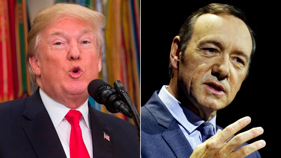 President Trump and Kevin Spacey