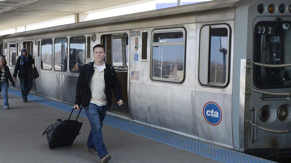CTA train in Chicago