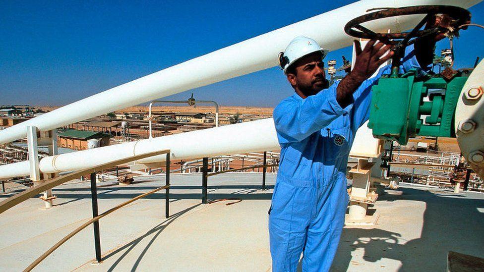 An oil worker in Oman