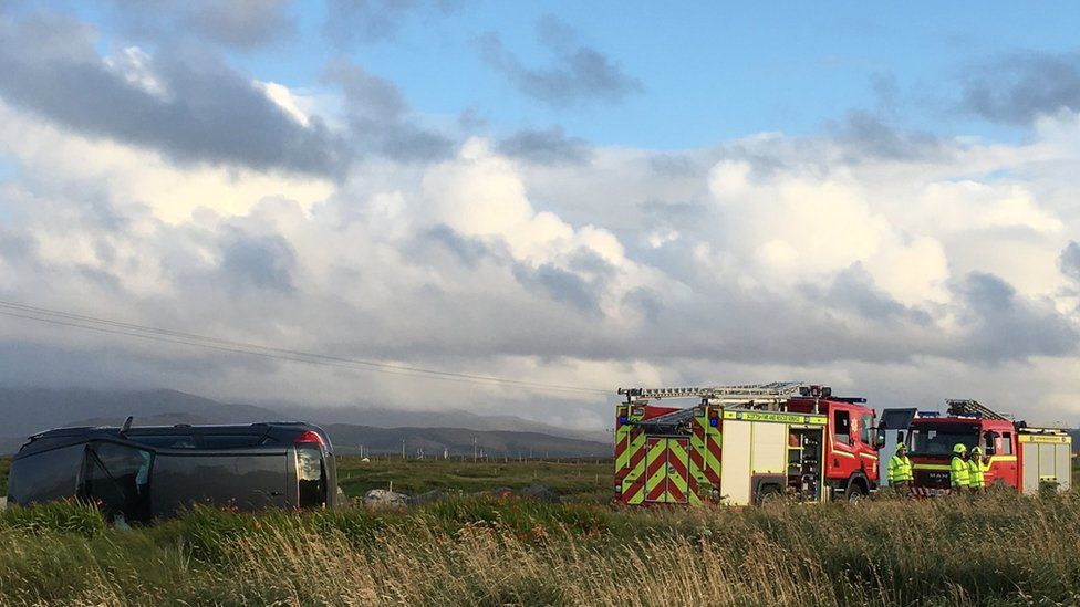 Scene of accident on South Uist