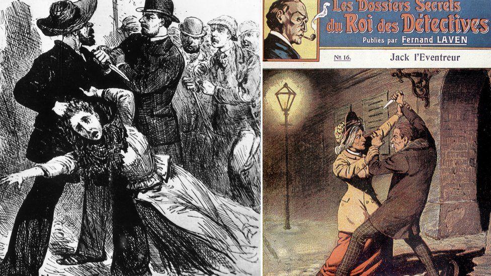 1900'lerin başlarından, Ripper Jack hakkında çizimler