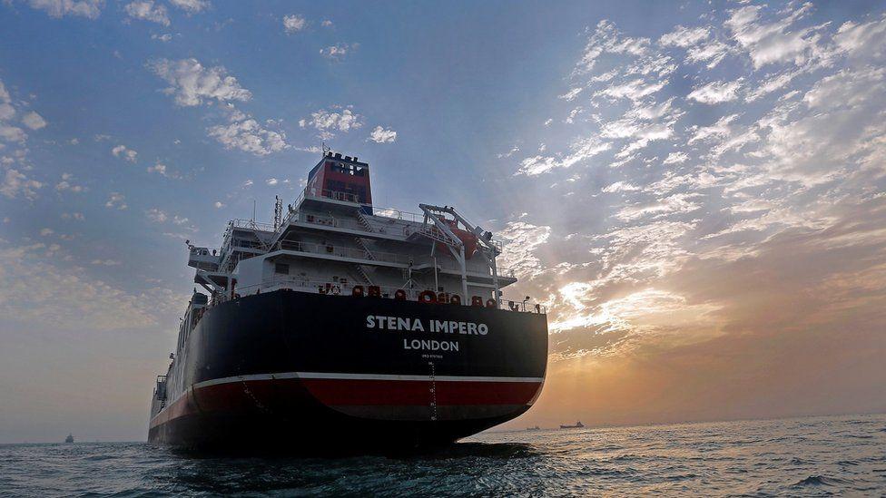Stena Impero, a British-flagged vessel, at Bandar Abbas port on 21 July 2019