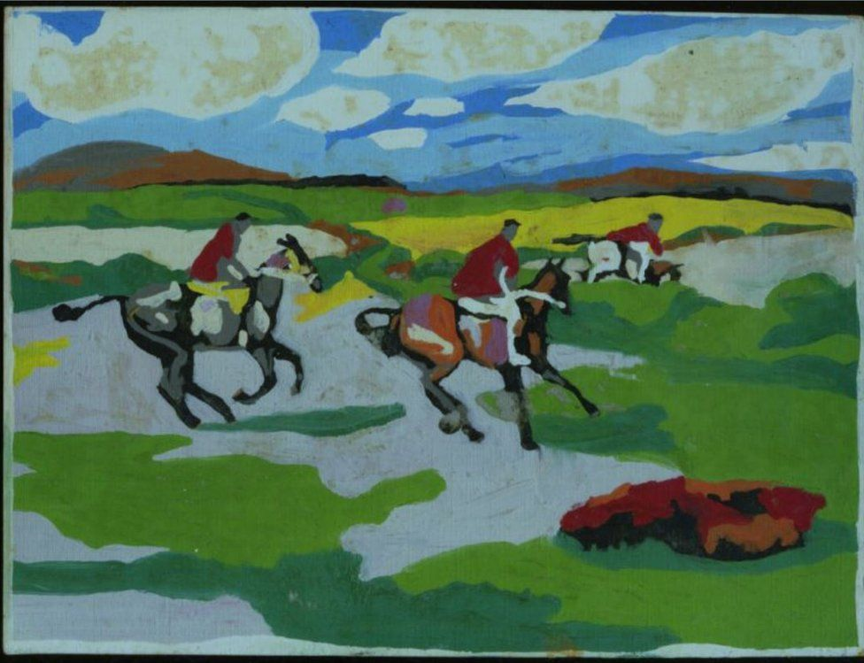 Image of people hunting on horses