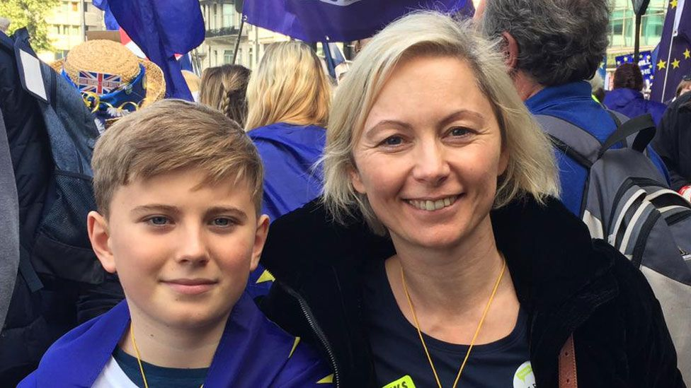 Aleta Doyle with son Leo