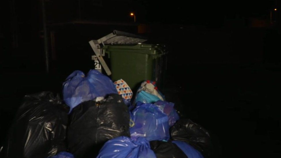 Rubbish on the Wildmill estate