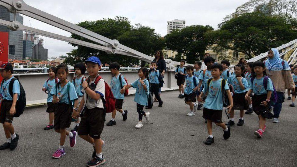 Niños en Singapur