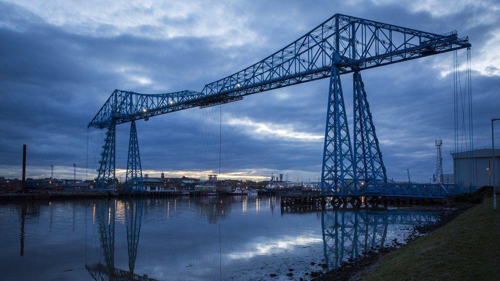 The Middlesbrough Transporter Bridge