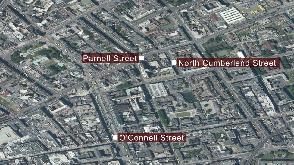 A map showing the area where the shooting took place