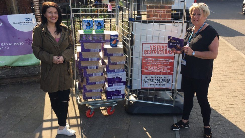Louisa Hobson delivers eggs to NHS workers
