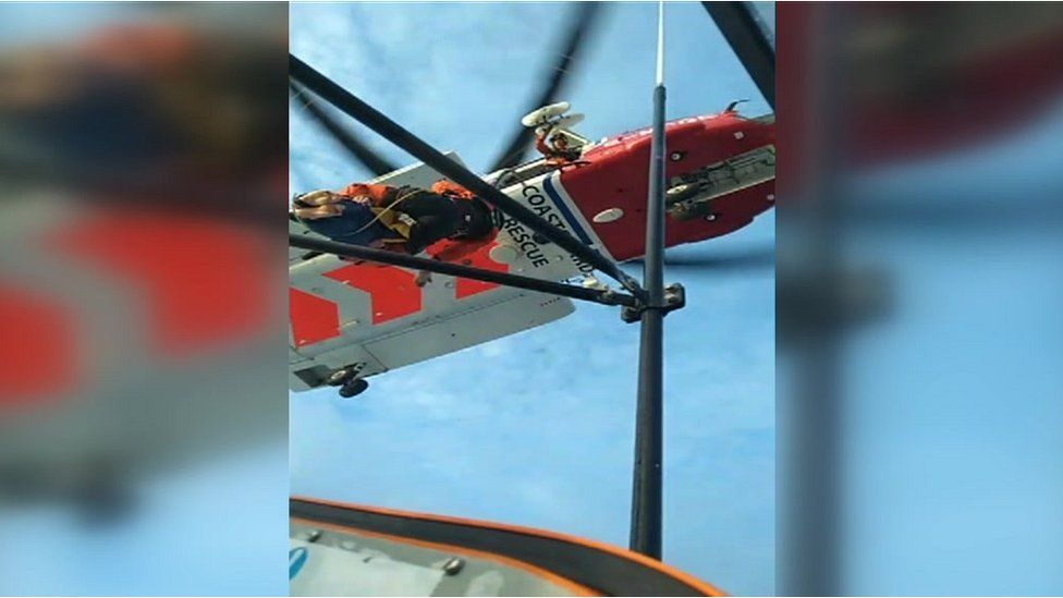 Coastguard helicopter rescue