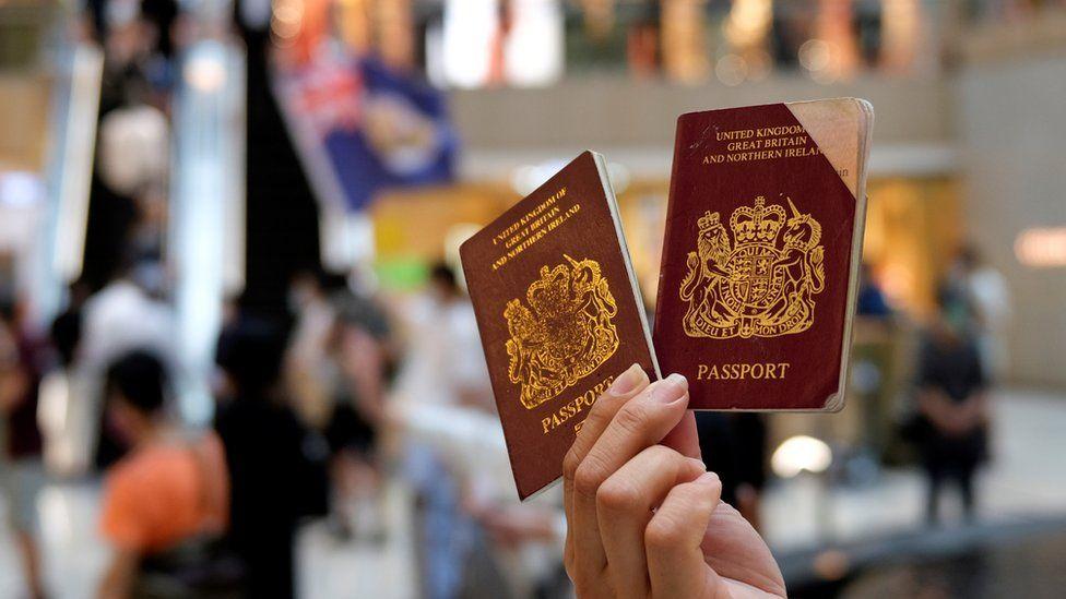 Pasaportes británicos de ultramar.