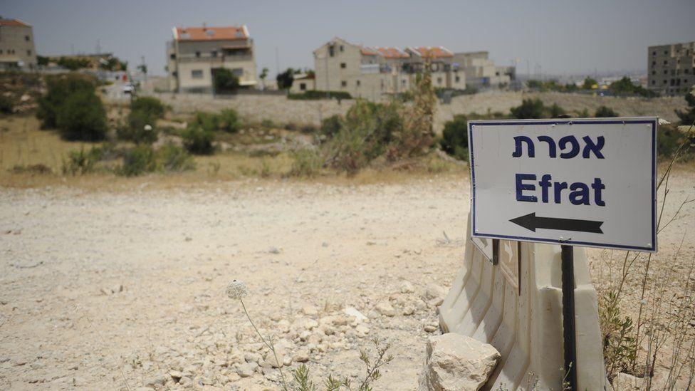 Sign for Efrat settlement