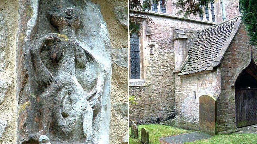 A história das esculturas de mulheres nuas 'exibicionistas' em igrejas britânicas