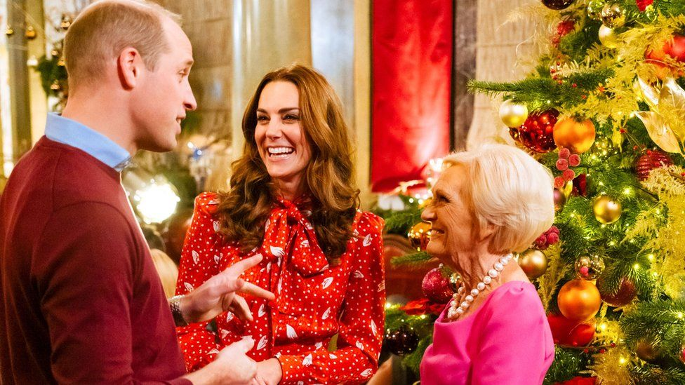 The Duke shares a joke with the duchess and TV chef Mary Berry