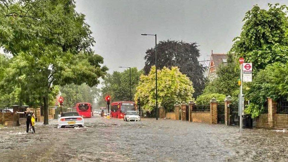 Flooding in Barnes