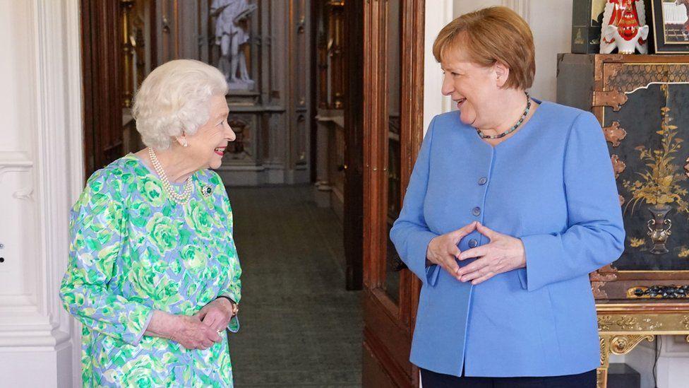 The Queen and Merkel