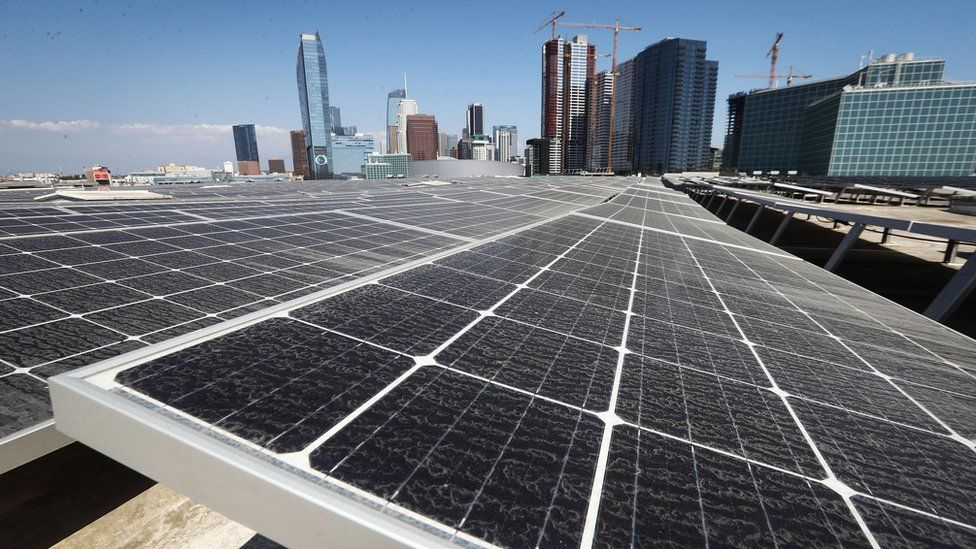 Solar panels installed in Los Angeles