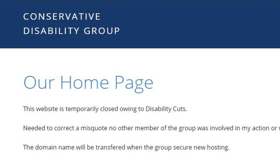 Conservative Disability Group website