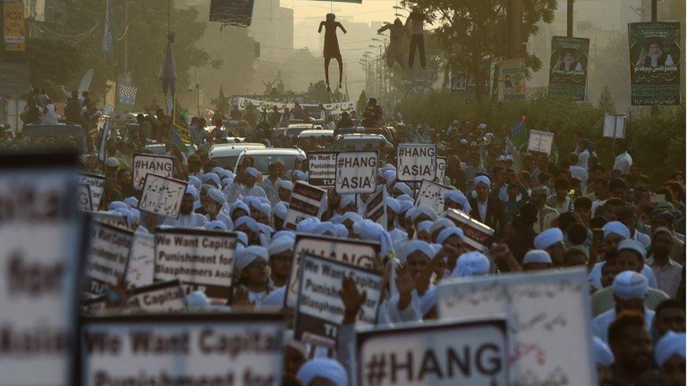 Protests against the Asia Bibi