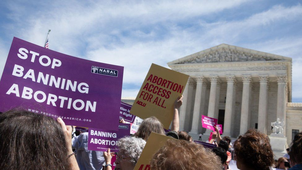 Abortion rights activist gathered outside the U.S. Supreme Court to protest against the recent abortion laws passed across the country in recent weeks on Tuesday, 21 May, 2019